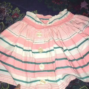 A toddler skirt been worn 3 times at least.
